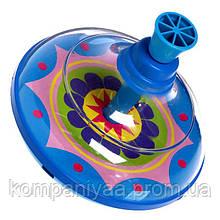 Дитяча пластикова дзига 0189 (Синя)