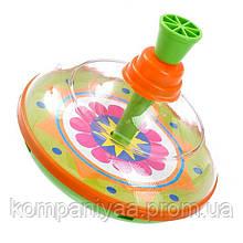 Дитяча пластикова дзига 0189 (Зелена)
