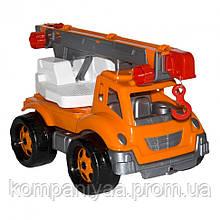 Детская игрушечная машина Автокран 4562TXK (Оранжевый)