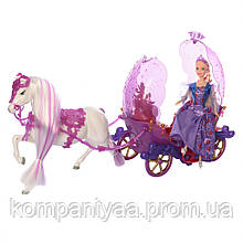 Кукла Барби в карете с лошадкой 238A