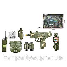 """Детский игровой набор """"Военного"""" с маской и УЗИ F8528-2A (Хаки)"""
