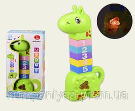 Дитяча музична розвиваюча іграшка Жираф BY600-1 (Зелений)
