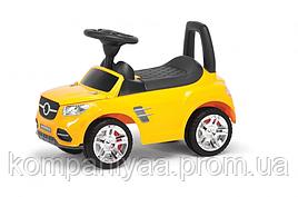 "Іграшка дитяча каталка-толокар ""Машинка"" MB 2-001 (Жовтий)"