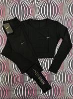 Комплект женский Nike для фитнеса черного цвета