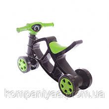 Дитячий мотоцикл-біговел «Мінібайк» 0136/01 (Чорний / зелений)