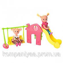 Кукла типа Барби дети на игровой площадке DEFA 8329