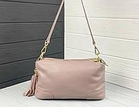 Женская кожаная сумка. Сумочка женская из натуральной кожи, сумка для девушек на каждый день, фото 8