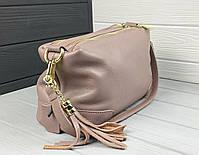 Женская кожаная сумка. Сумочка женская из натуральной кожи, сумка для девушек на каждый день, фото 4