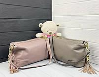 Женская кожаная сумка. Сумочка женская из натуральной кожи, сумка для девушек на каждый день, фото 3