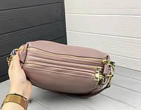 Женская кожаная сумка. Сумочка женская из натуральной кожи, сумка для девушек на каждый день, фото 7