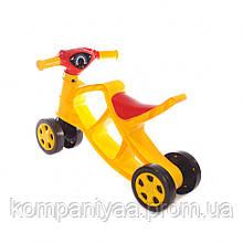 Дитячий біговел-мотоцикл чотириколісний 0137/03 (Жовтий)