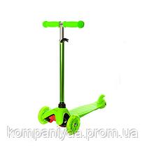 Детский трехколесный самокат BB 3-013-4-H светящиеся колеса (Зелёный)