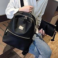 Женский рюкзак, повседневный черный рюкзак и кошелек, СС-2542-10