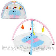 """Дитячий ігровий килимок для немовляти з брязкальцями """"Слоненя"""" W8311"""