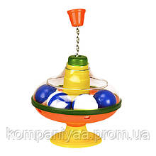 Дитяча пластикова дзига з кульками 0190A