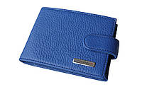 Визитница кожаная синяя горизонтальная Karya 408-245, фото 1