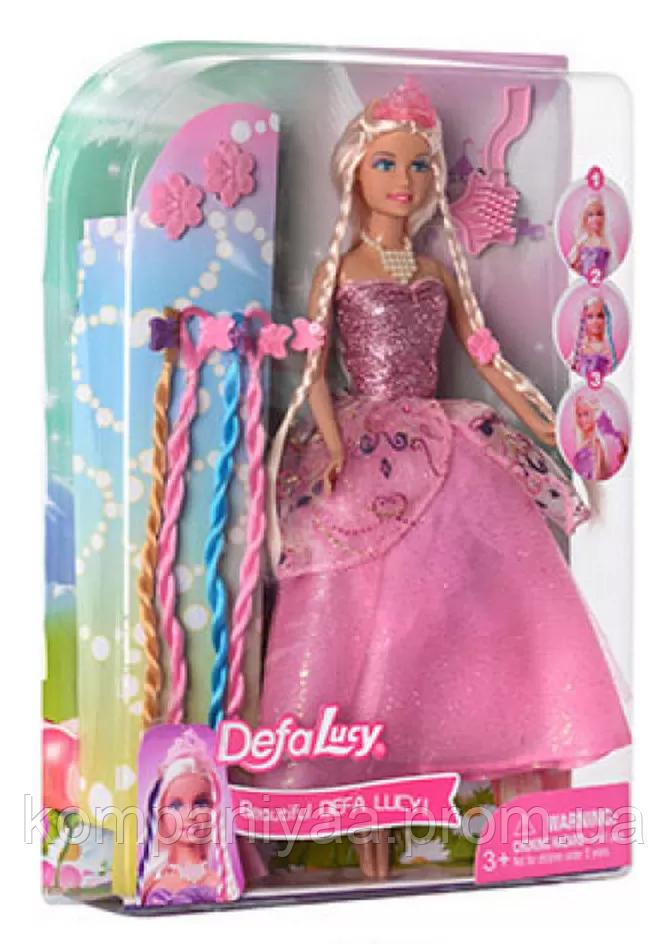 Кукла типа Барби DEFA в платье с косичками 8182