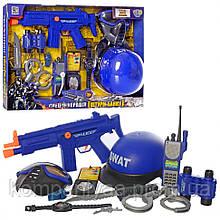 """Детский игровой набор """"Полицейского"""" с автоматом и шлемом 33550 (Синий)"""