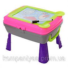 Дитячий столик-мольберт для малювання з аксесуарами YM771-2 (Рожевий)