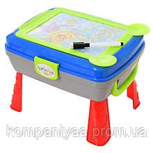Дитячий столик-мольберт для малювання з аксесуарами YM771-2 (Блакитний)