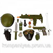 """Детский игровой набор """"Военный"""" с маской 34320 (Хаки)"""