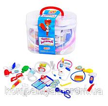 Дитячий ігровий набір юного лікаря М 0461 у валізі