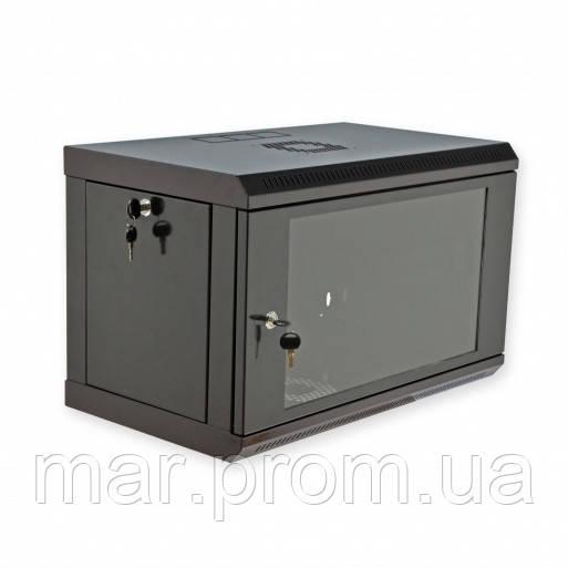 Шкаф 6U, 600x350x373мм (Ш * Г * В), эконом, акриловое стекло, чёрный