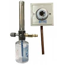 Увлажнитель кислорода Y-002 с расходомером и настенным газовым клапаном (кислородной розеткой) Медаппаратура
