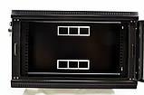 Шкаф 6U, 600x350x373мм (Ш * Г * В), эконом, акриловое стекло, чёрный, фото 3