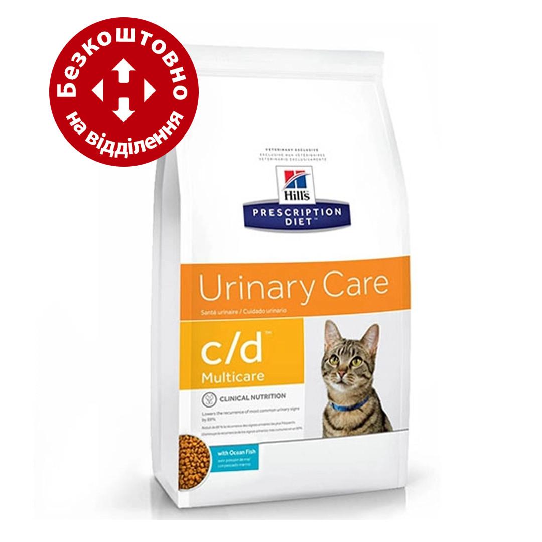 Hills  Prescription Diet Feline c/d 5кг -для кошек с океанической рыбой (6069)