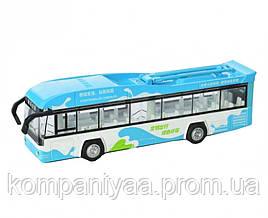 Дитячий іграшковий інерційний тролейбус MS1602A (Блакитний)
