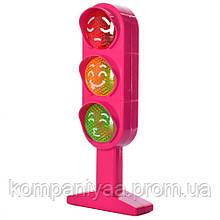 Дитяча іграшка Світлофор KT360-012 на англ.мові (Рожевий)