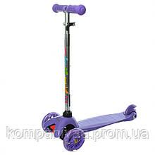 Детский трехколесный самокат BB 3-013-4-C (Фиолетовый)
