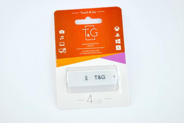 Флеш-накопичувач Usb 4Gb T & G 011 Classic series White, фото 2
