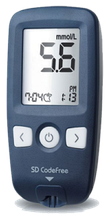 Акція Глюкометр SD CodeFree + Тест-смужки для визначення глюкози в крові 50 шт. Медапаратура