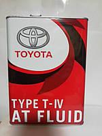 Масло трансмиссионное Toyota ATF T-IV 4л ж/б Япония