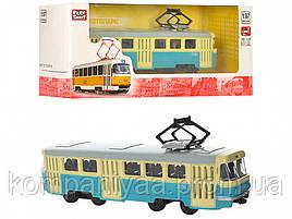 Іграшковий інерційний Трамвай PLAY SMART 6411 (Блакитний)