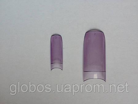 Накладные искусственные типсы GLOBOS R clear V, фото 2