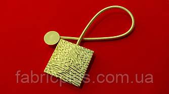 Магнит подхват для штор 38.5*5.7 см (1 шт) золото глянцевый