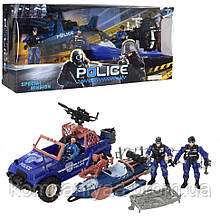 """Детский игровой набор """"Полиция"""" с лодкой F110-29 (Синий)"""