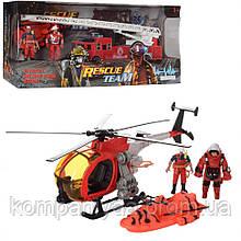 """Детский игровой набор """"Пожарных"""" с вертолетом F119-32 (Красный)"""