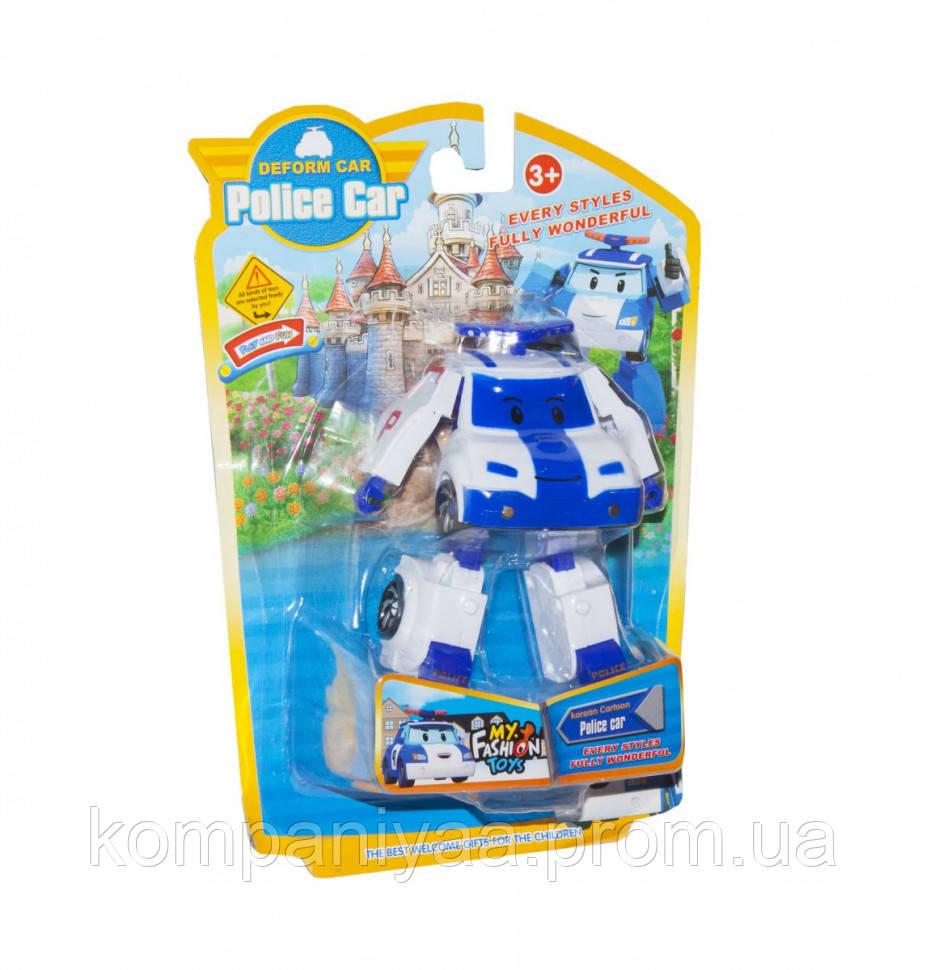 Трансформер транспорт Robocar POLI 378B (Білий Поліція)