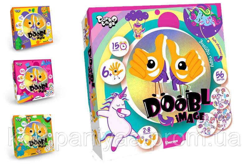 """Детская развлекательная настольная игра """"Doobl Image"""" DBI-01-01U (на укр. языке)"""