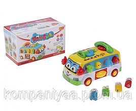 Дитячий розвиваючий музичний Сортер-автобус з телефоном 2201
