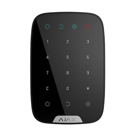 Беспроводная сенсорная клавиатура Ajax KeyPad черная, фото 2
