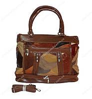 Женская сумочка кожаная из кусочков Tongle 636