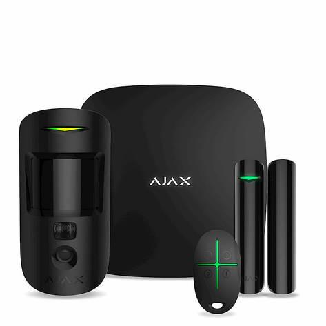 Комплект охоронної сигналізації Ajax StarterKit Cam Black, фото 2