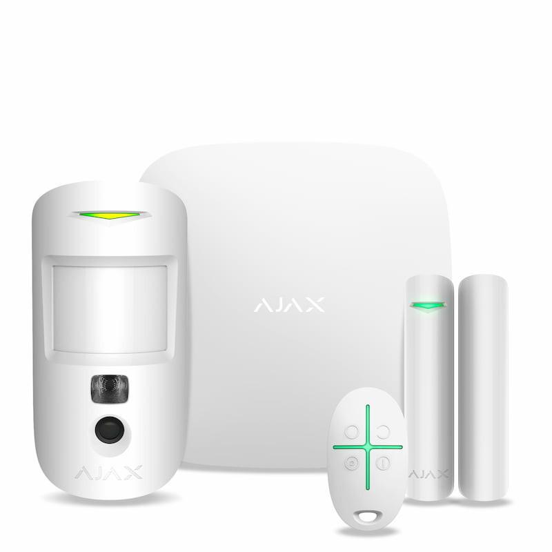 Комплект охоронної сигналізації Ajax StarterKit Cam Plus White