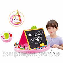 Дитячий набір для малювання з фломастерами 8809 (Рожевий)
