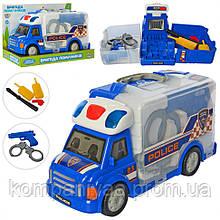 """Детский игровой набор """"Полицейского"""" кейс-машинка M 5530  (Синий)"""